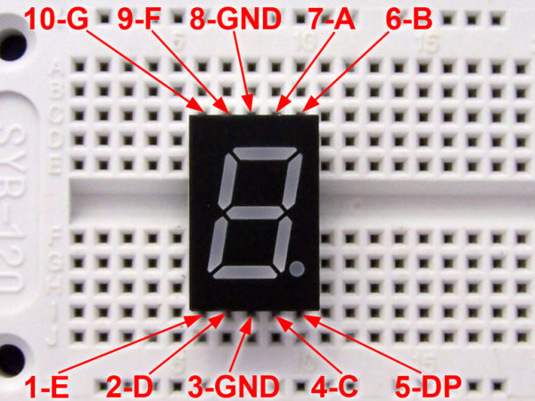 Using the 7447 BCD to Seven-segment display