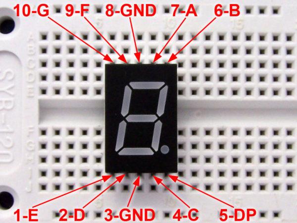 El cajn de Arduino: Display de 7 segmentos 1 dgito