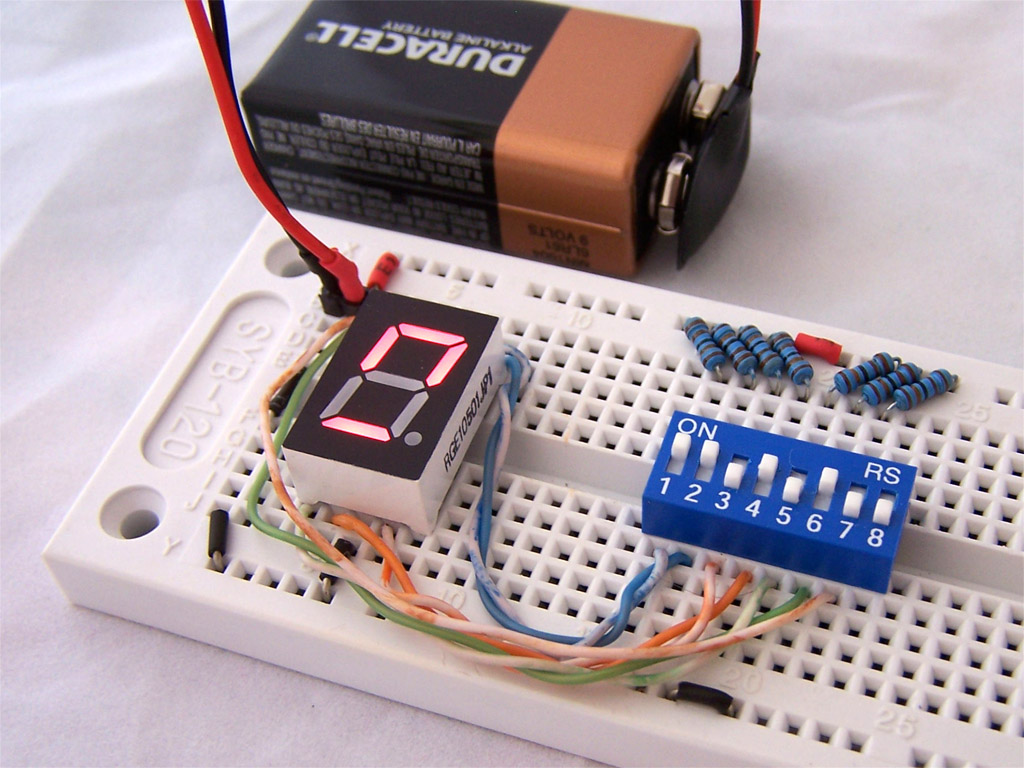 Driving A 7 Segment Display With A 4511 Bcd To 7 Segment