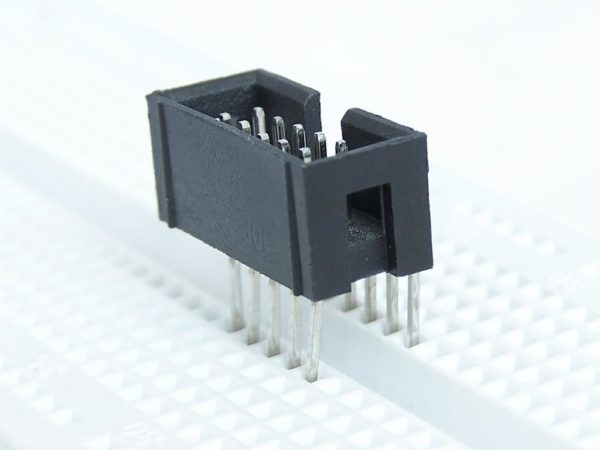 IDC connector getting inserted into the breadboard