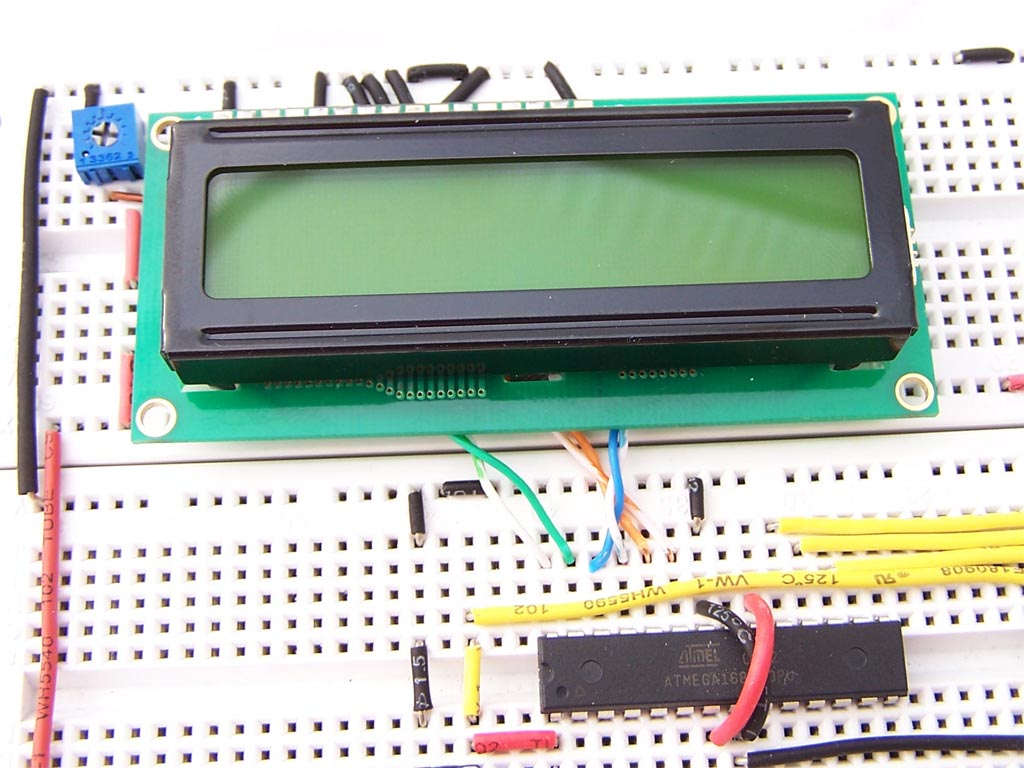 Inserting the LCD Module into the breadboard