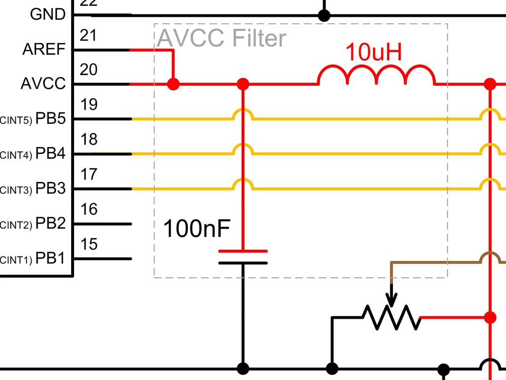Analogue To Digital Conversion On An Atmega168 Protostack Low Pass Filter Circuit Diagram