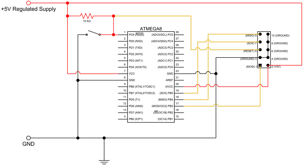 ATmega8 breadboard circuit - Part 2 of 3 - The