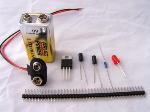 components for atmega8 circuit