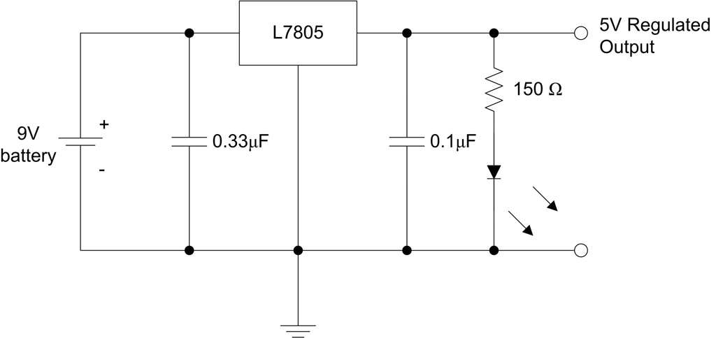 atmega8 breadboard circuit part 1 of 3 power supply protostack power supply circuit