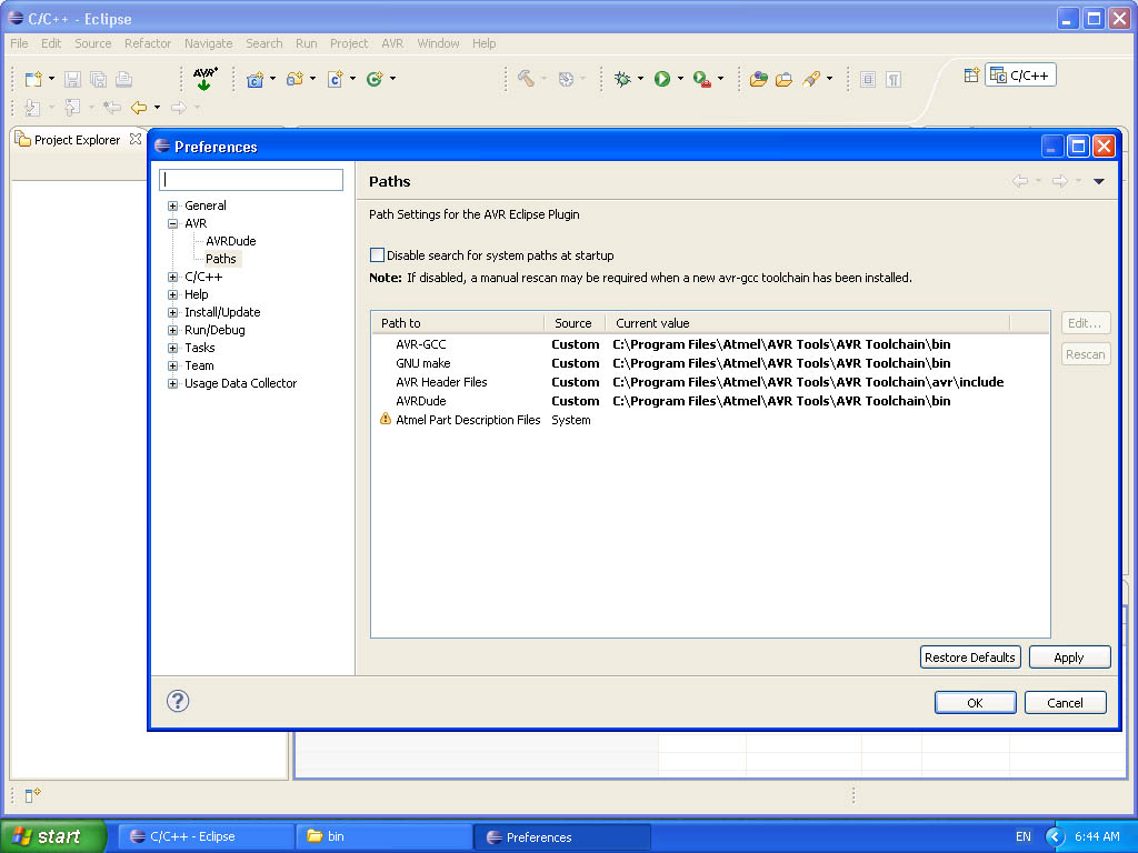 avr eclipse environment on windows protostack rh protostack com au avr gcc user manual pdf avr gcc compiler manual