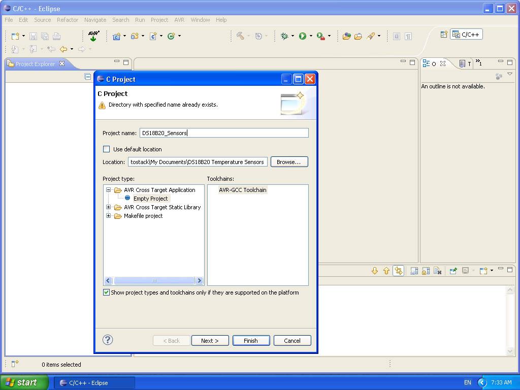 AVR Eclipse Environment on Windows - Protostack