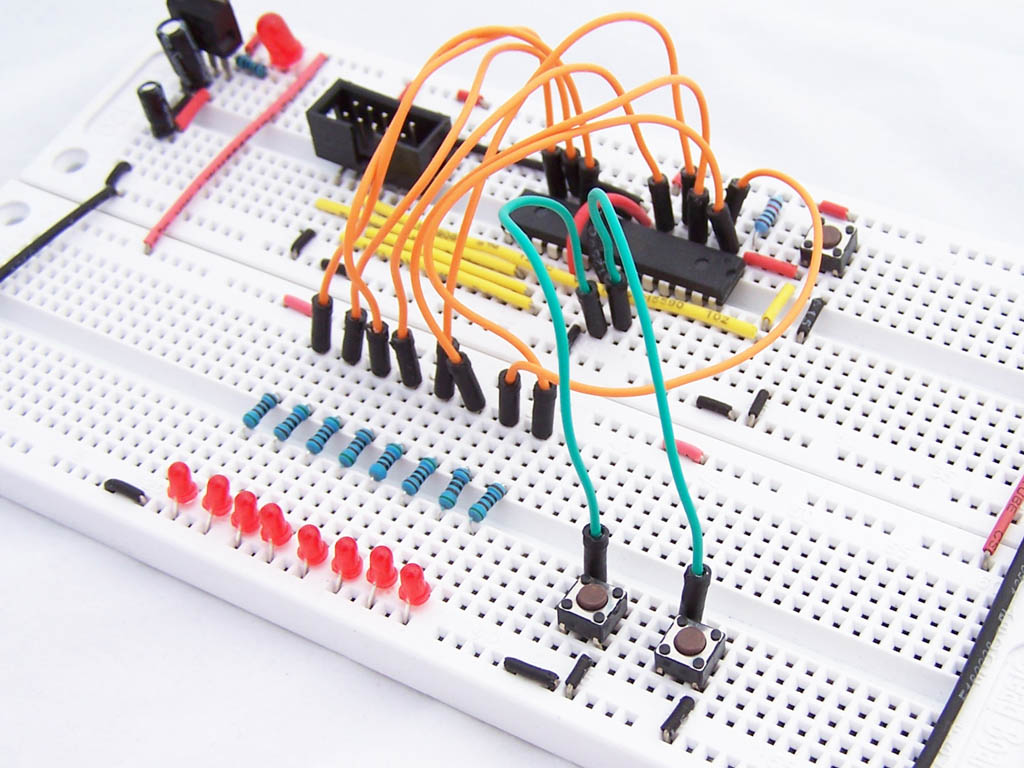 Introduction To I O Registers Protostack Integrated Circuits Tutorials Circuit On Breadboard